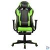 Kép 1/5 - Iris GCH204BE_FT fekete / zöld gamer szék