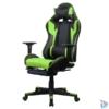 Kép 2/5 - Iris GCH204BE_FT fekete / zöld gamer szék
