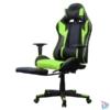 Kép 3/5 - Iris GCH204BE_FT fekete / zöld gamer szék