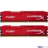 Kép 1/2 - Kingston 8GB/1600MHz DDR-3 (Kit 2db 4GB) HyperX FURY piros (HX316C10FRK2/8) memória