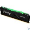 Kép 1/5 - Kingston 16GB/3200MHz DDR-4 1Gx8 FURY Beast RGB (KF432C16BB1A/16) memória