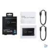 Kép 5/5 - Samsung 1000GB USB 3.2 (MU-PC1T0K/WW) fekete ujjlenyomatolvasós T7 Touch külső SSD