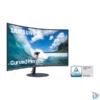 """Kép 8/9 - Samsung 31,5"""" C32T550FDR LED HDMI Display port ívelt kijelzős kékes sötétszürke monitor"""