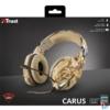 Kép 4/4 - Trust GXT 322D Carus sivatag álcafestéses gamer fejhallgató headset