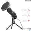 Kép 1/4 - Trust GXT 232 Mantis Streaming USB gamer mikrofon