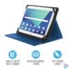 "Kép 1/5 - Trust Primo Folio 10""-os kék tablet tok"