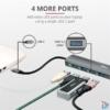 Kép 2/7 - Trust Halyx 4 portos USB-C  USB3.2 alumínium HUB