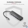 Kép 4/7 - Trust Halyx 4 portos USB-C  USB3.2 alumínium HUB