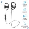 Kép 1/5 - Trust Usan Bluetooth wireless fekete sport fülhallgató headset