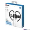 Kép 5/5 - Trust Usan Bluetooth wireless fekete sport fülhallgató headset