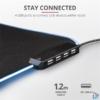 Kép 2/5 - Trust GXT 765 Glide-Flex RGB világító fekete gamer egérpad