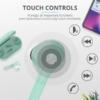 Kép 3/6 - Trust Nika Touch Bluetooth true wireless türkiz fülhallgató headset