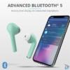 Kép 5/6 - Trust Nika Touch Bluetooth true wireless türkiz fülhallgató headset