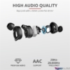 Kép 5/7 - Trust Duet XP Bluetooth true wireless fekete fülhallgató headset