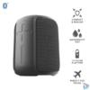 Kép 1/6 - Trust Caro Compact vezeték nélküli Bluetooth fekete hangszóró