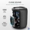 Kép 2/6 - Trust Caro Compact vezeték nélküli Bluetooth fekete hangszóró