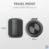 Kép 3/6 - Trust Caro Compact vezeték nélküli Bluetooth fekete hangszóró