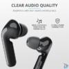 Kép 1/5 - Trust Nika Touch XP Bluetooth true wireless fekete fülhallgató headset