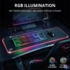 Kép 2/5 - Trust GXT 764 Glide-Flex RGB  XXL világító fekete gamer egérpad
