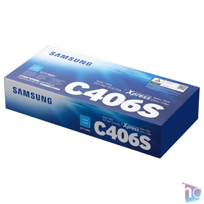 CLT-C406S C toner, eredeti, cyan, 1.0k
