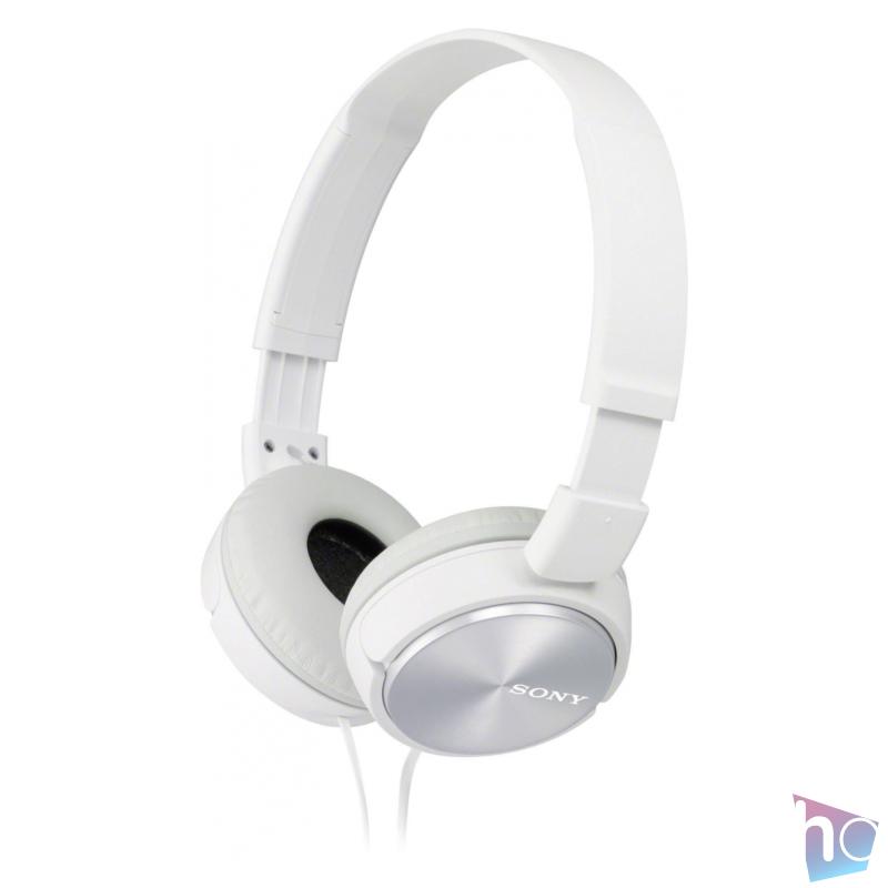 MDR-ZX310 fehér vezetékes fejhallgató