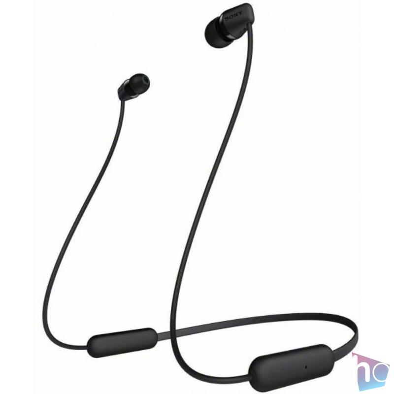 WI-C200B fekete Fülhallgató, Bluetooth,  headset