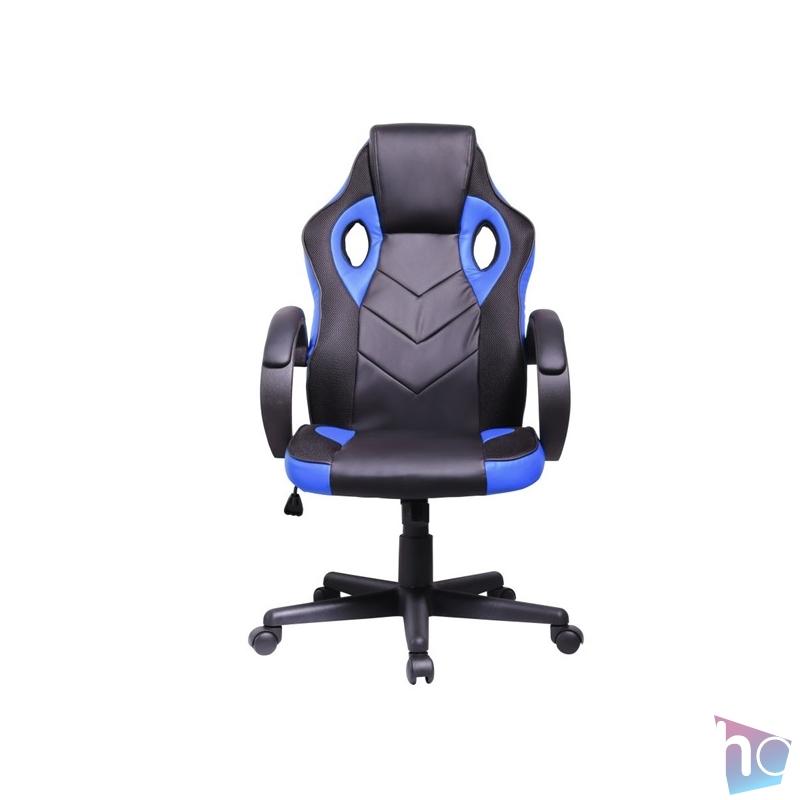 Iris GCH205BK fekete / kék gamer szék