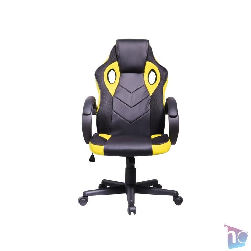 Iris GCH205BC fekete / citromsárga gamer szék