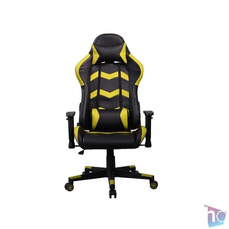 Iris GCH203BC fekete / citromsárga gamer szék
