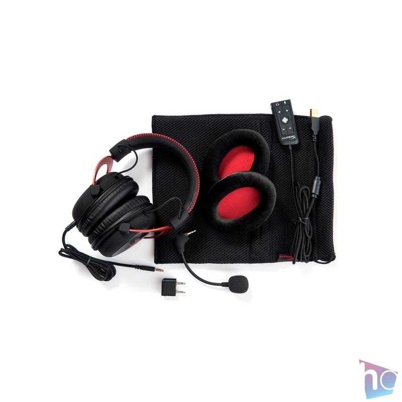 Kingston HyperX Cloud II 3,5 Jack/USB fekete-vörös gamer headset