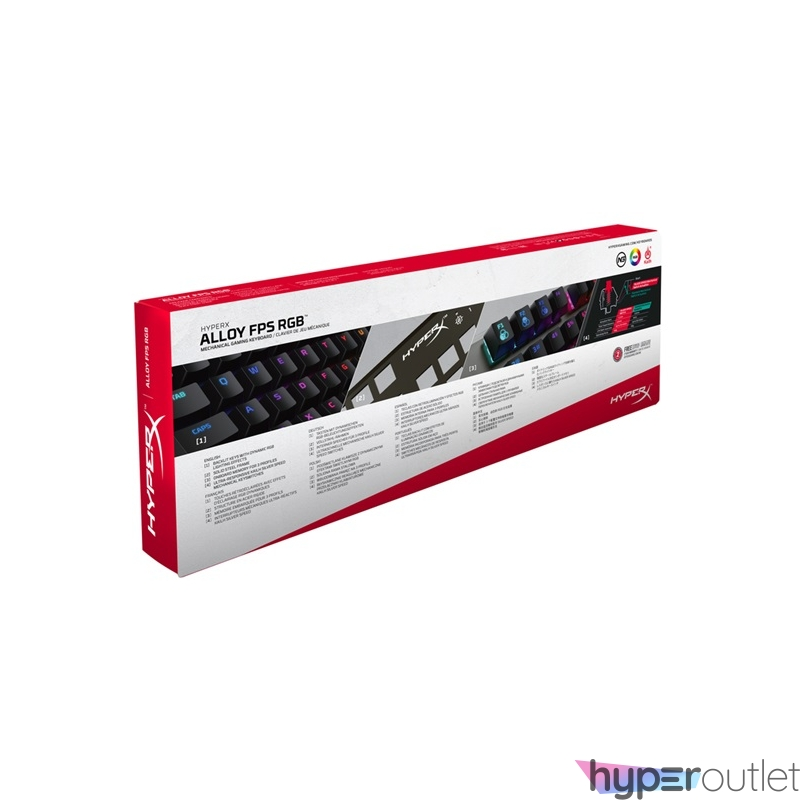 Kingston HyperX Alloy FPS (Kailh Silver Speed) UK RGB világító mechanikus gamer billentyűzet
