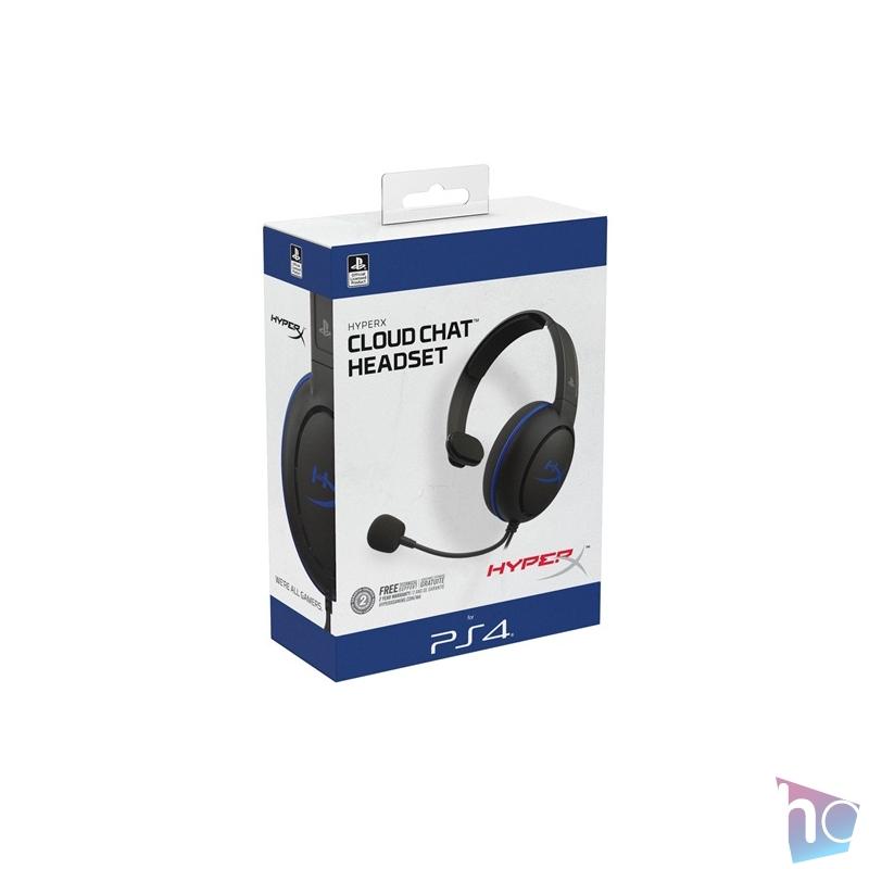 Kingston HyperX Cloud Chat (PS4 Licensed) 3,5 Jack fekete gamer headset