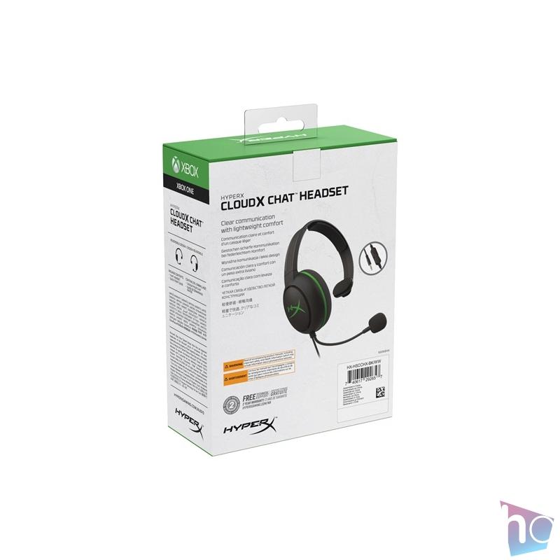 Kingston HyperX CloudX Chat (Xbox Licensed) 3,5 Jack fekete gamer headset