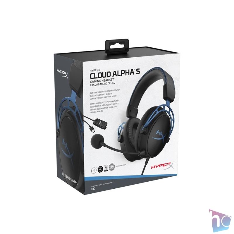 Kingston HyperX Cloud Alpha S 3,5 Jack fekete gamer headset