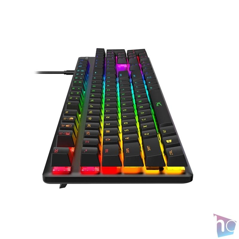 Kingston HyperX Alloy Origins (HyperX red) UK világító mechanikus gamer billentyűzet