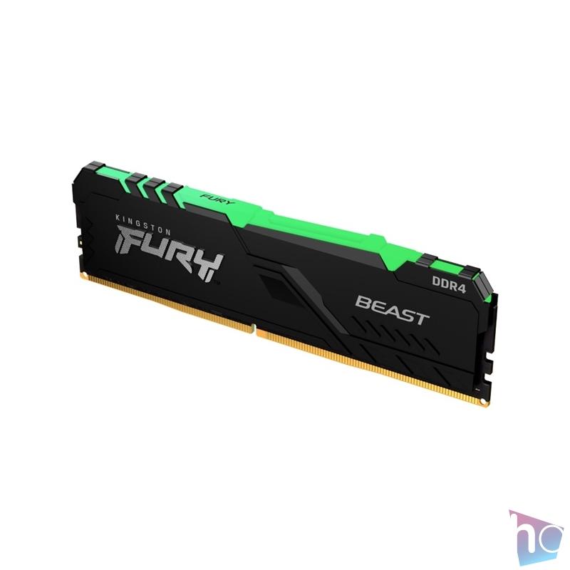 Kingston 8GB/3000MHz DDR-4 FURY Beast RGB (KF430C15BBA/8) memória