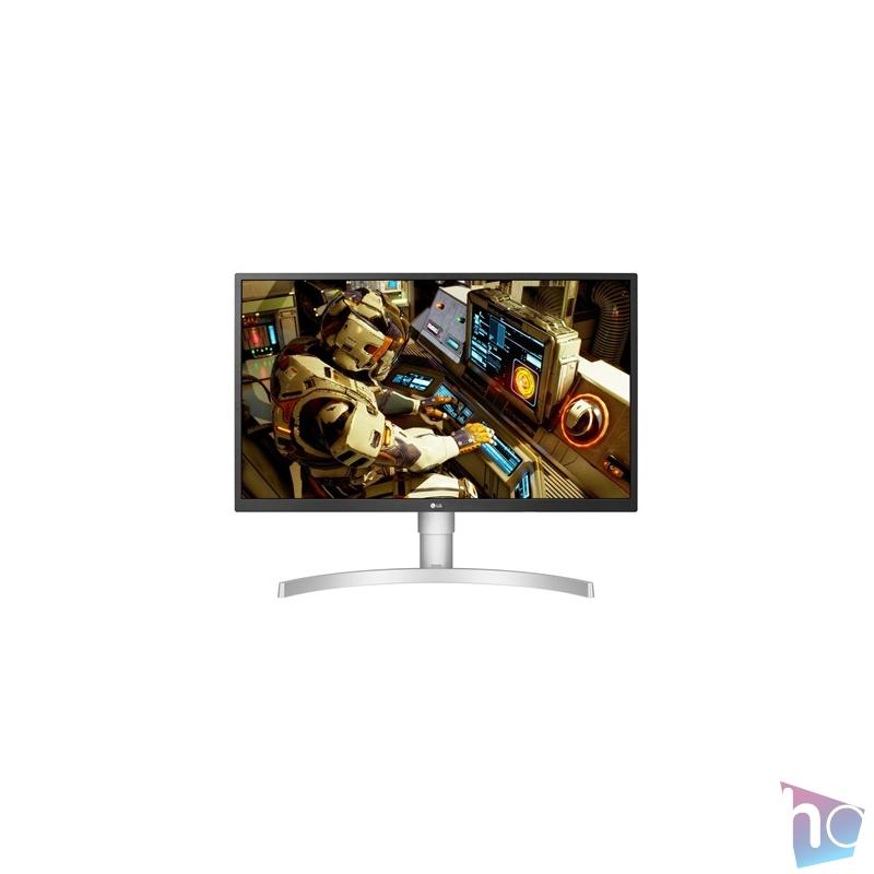 """LG 27"""" 27UL550-W 4K IPS HDMI DisplayPort LED fehér pivot monitor"""