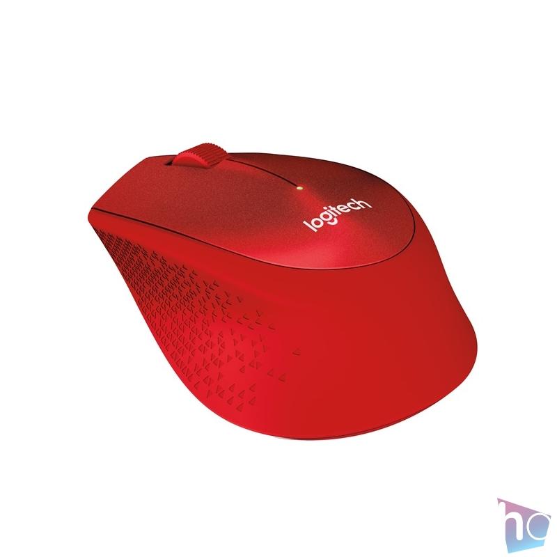 Logitech M330 Silent vezeték nélküli piros egér