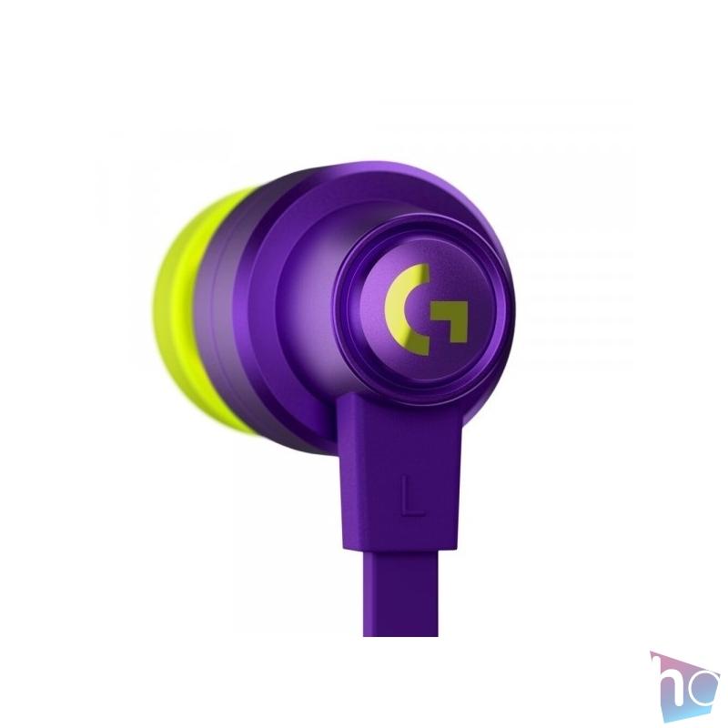 Logitech G333 mikrofonos lila gamer fülhallgató