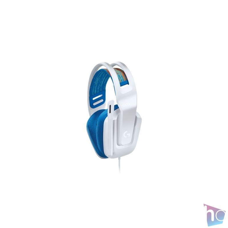 Logitech G335 fehér gamer headset