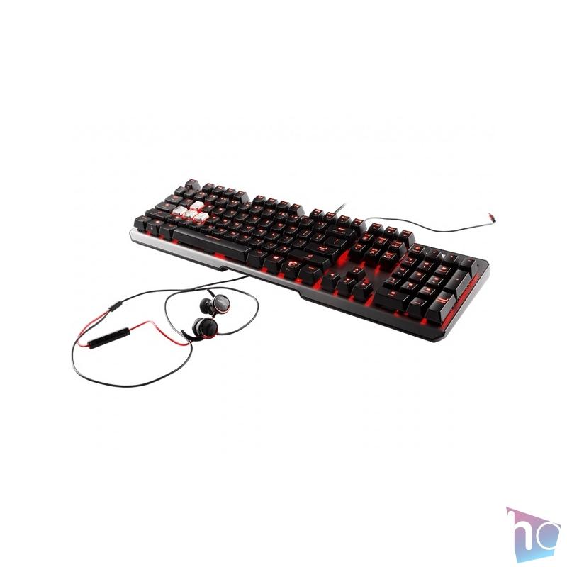 MSI Vigor GK60 HUN USB fekete gamer billentyűzet