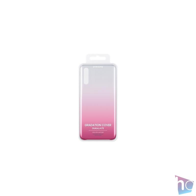 Samsung EF-AA705CPEG Galaxy A70 rózsaszín szilikon hátlap