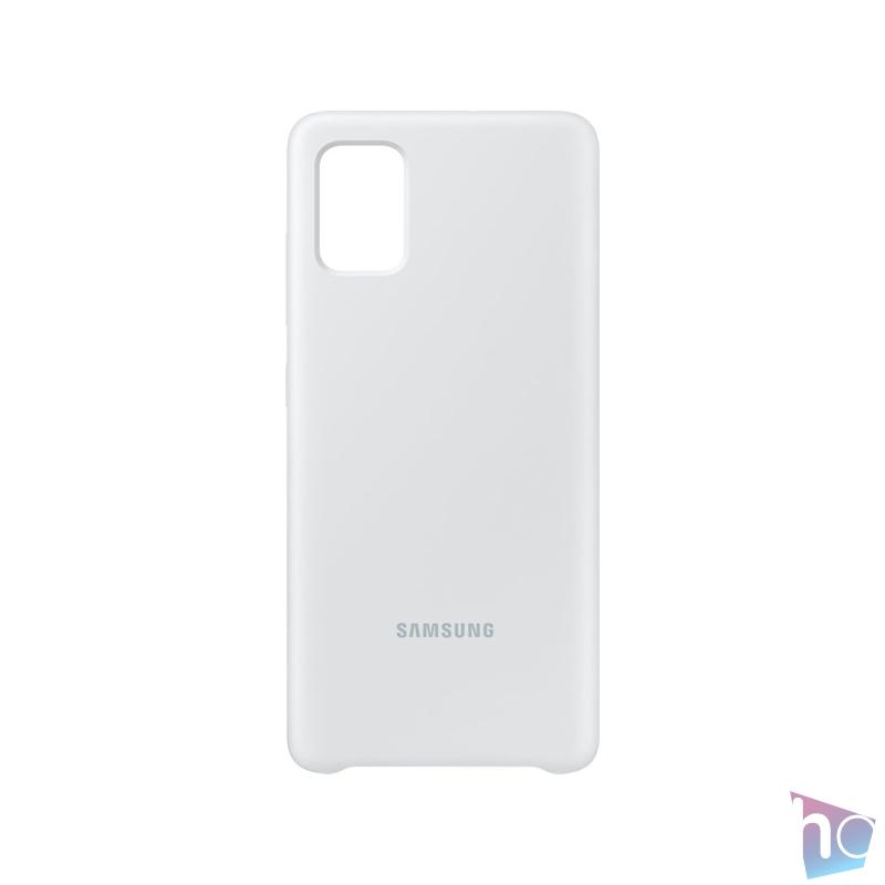 Samsung EF-PA515TWEG Galaxy A51 fehér szilikon hátlap