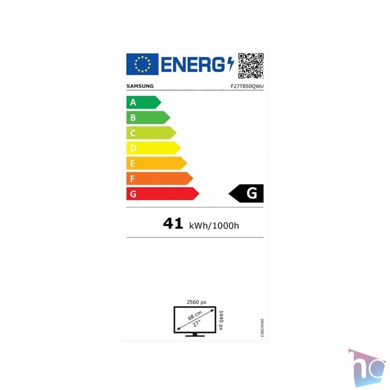 "Samsung 27"" F27T850QWU LED PLS HDMI fekete monitor"