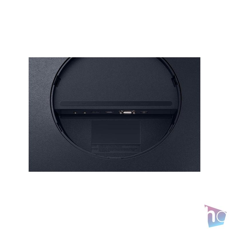 """Samsung 23,6"""" C24T550FDR LED HDMI Display port ívelt kijelzős kékes sötétszürke monitor"""