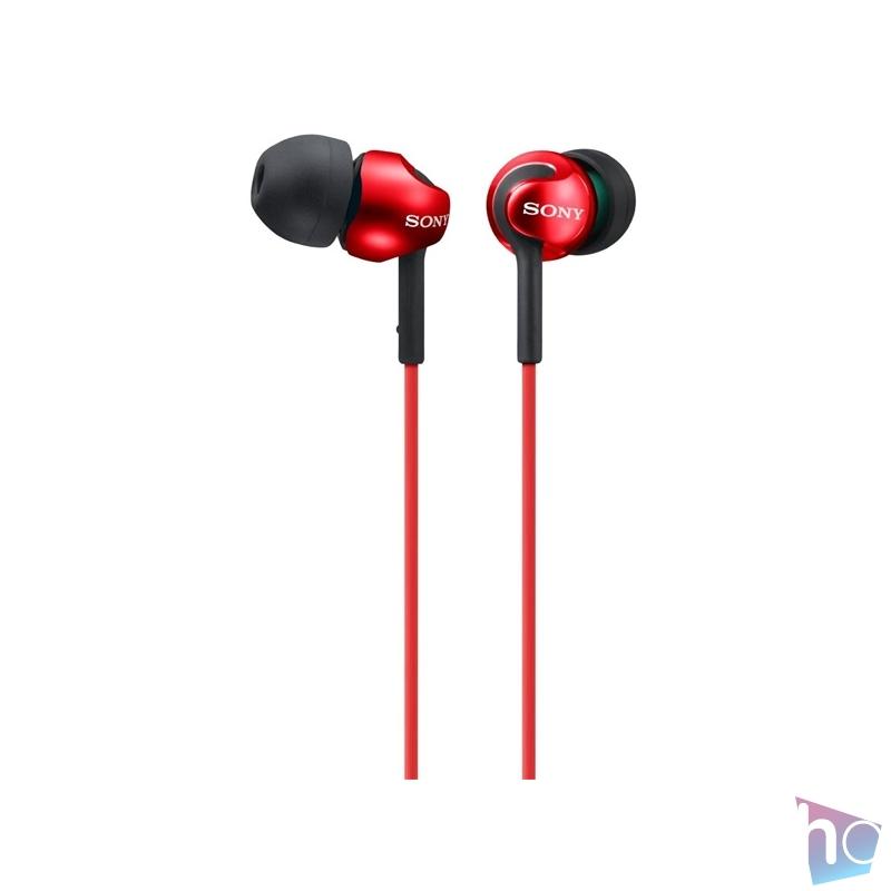 Sony MDREX110LPR.AE piros fülhallgató
