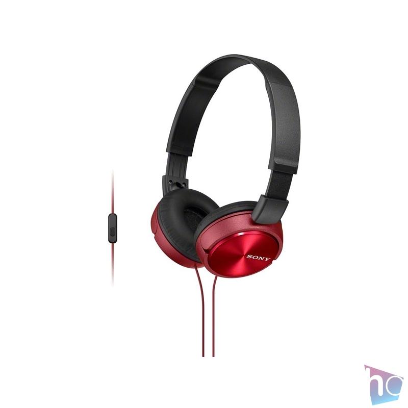 Sony MDRZX310APR.CE7 piros mikrofonos fejhallgató