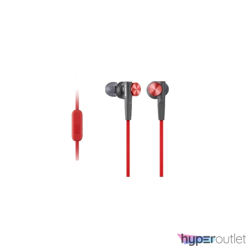 Sony MDRXB50APR.CE7 Extra Bass piros mikrofonos fülhallgató
