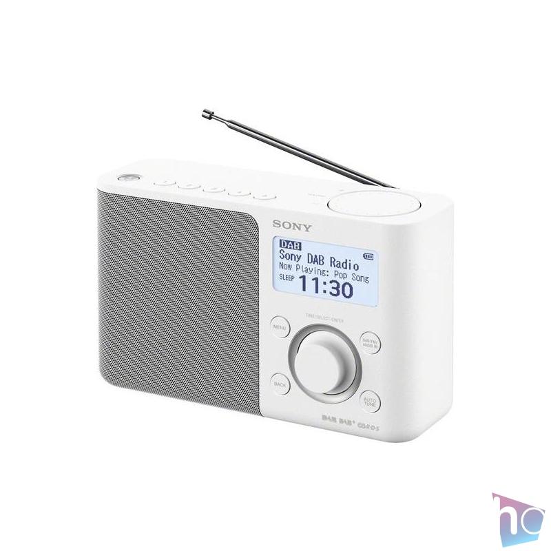 Sony XDRS61 hálózati töltős fehér FM rádió