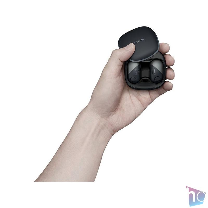 Sony WF-SP700N True Wireless Bluetooth zajszűrős fekete sport fülhallgató
